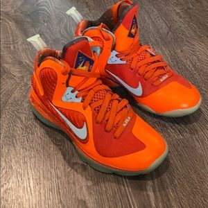 Nike Lebrons LBJ6 orange red basketball shoes